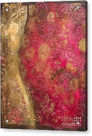 Waves Of Circles On Fuchsia Acrylic Print