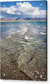 Acrylic Print featuring the photograph Waves Of Namtso, Tibet, 2007 by Hitendra SINKAR