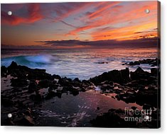 Waves Of Paradise Acrylic Print by Mike  Dawson