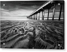 Waves Of Sand Acrylic Print by Ryan Weddle