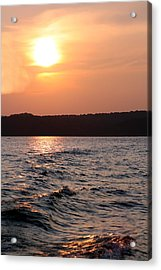 Waves On Greers Ferry Lake Acrylic Print by Kenna Westerman