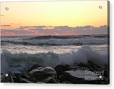 Waves Over The Rocks  5-3-15 Acrylic Print