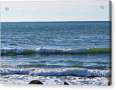 Waves Rolling In Acrylic Print by Barbara Griffin