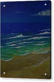 Waves Acrylic Print by Ron Sylvia