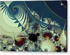 Waves Spirals And Mandelbrots No. 2 Acrylic Print