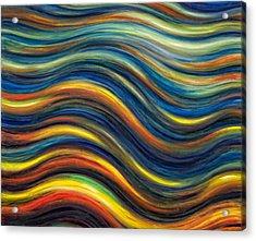 Wavescape Acrylic Print by De Es Schwertberger