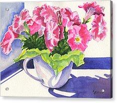 Waving Back To Jim Acrylic Print by Marsha Elliott