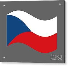 Waving Czech Republic Flag Acrylic Print by Frederick Holiday
