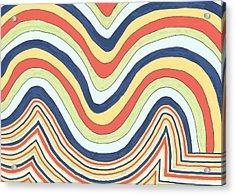 Acrylic Print featuring the drawing Waving by Jill Lenzmeier