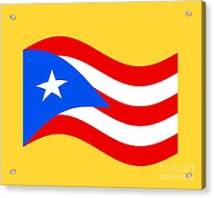 Waving Puerto Rico Flag Acrylic Print by Frederick Holiday