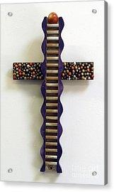 Wavy Cross With Beads Acrylic Print