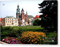 Wawel Cathedral In Krakow Acrylic Print by Jacqueline M Lewis