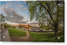 Wawel Royal Castle Seen From Vistula Bank In 16x9 Acrylic Print