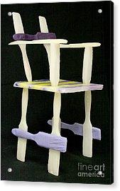 Wax Chair Acrylic Print by Karen  Peterson