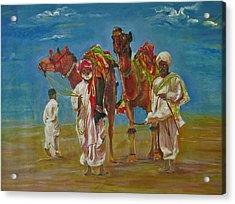Way Of Life Acrylic Print by Khalid Saeed