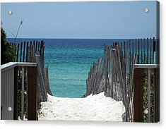 Way To The Beach Acrylic Print by Susanne Van Hulst