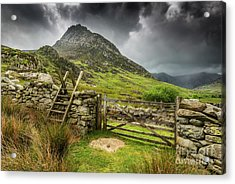 Way To Tryfan Mountain Acrylic Print by Adrian Evans