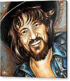Waylon Jennings Acrylic Print