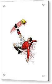 Wayne Rooney Acrylic Print by Armaan Sandhu