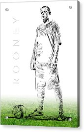 Wayne Rooney Acrylic Print by ISAW Gallery