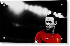 Wayne Rooney Ready To Strike Acrylic Print