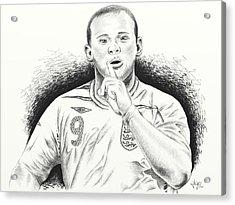 Wayne Rooney With Enggland Acrylic Print by Yudiono Putranto