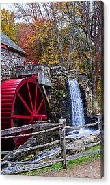 Wayside Inn Grist Mill Autumn Sudbury Ma Acrylic Print