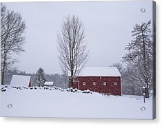 Wayside Inn Grist Mill Covered In Snow Storm 2 Acrylic Print by Toby McGuire