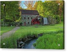 Wayside Inn Grist Mill Acrylic Print by Juergen Roth