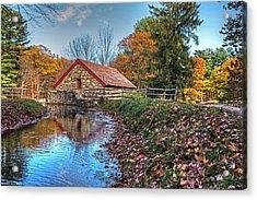 Wayside Inn Grist Mill Stream Sudbury Ma Acrylic Print
