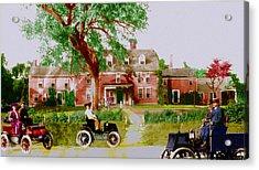 Wayside Inn With Autos Acrylic Print