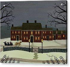 Wayside Winter's Eve Acrylic Print by RJ Houghton