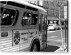Wbru-fm Bus Sign, 1975 Acrylic Print