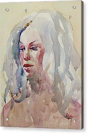 Wc Portrait 1617 Acrylic Print by Becky Kim