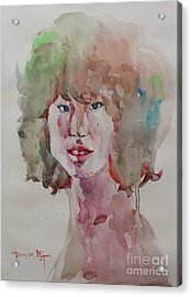 Self Portrait 1623 Acrylic Print by Becky Kim
