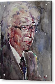 Wc Portrait 1624 My Papa Acrylic Print by Becky Kim