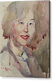 Wc Portrait 1628 My Sister Hyunsook Acrylic Print