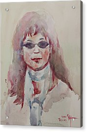 Wc Portrait 1629 My Sister Younhee Acrylic Print by Becky Kim