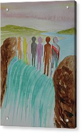 Acrylic Print featuring the painting We Are All The Same 1.2 by Tim Mullaney
