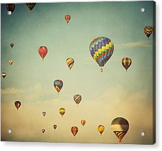 We Are Floating In Space Acrylic Print by Irene Suchocki