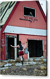 We Are Here Acrylic Print by Scott Sawyer