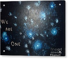 We Are One Acrylic Print by Piercarla Garusi