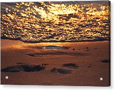 We Each Leave Our Mark, Momentarily Acrylic Print