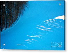 Acrylic Print featuring the photograph We Got The Blues - Winter In Switzerland by Susanne Van Hulst