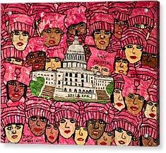 We Matter Acrylic Print by Deborah Stanley