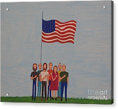 We Pledge Acrylic Print by Gregory Davis