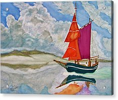 We Sailed Upon A Sea Of Glass Acrylic Print by Rand Swift