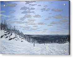We Ski Acrylic Print