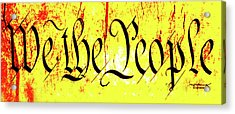 We The People Celebrate A Republic Artist Series Jgibney The Museum Acrylic Print by The MUSEUM Artist Series jGibney