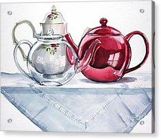 We Three Teapots Acrylic Print